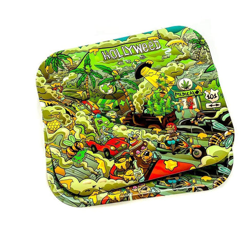 Smokerolla Rolling Trays Hollyweed Large Magnetic Rolling Trays