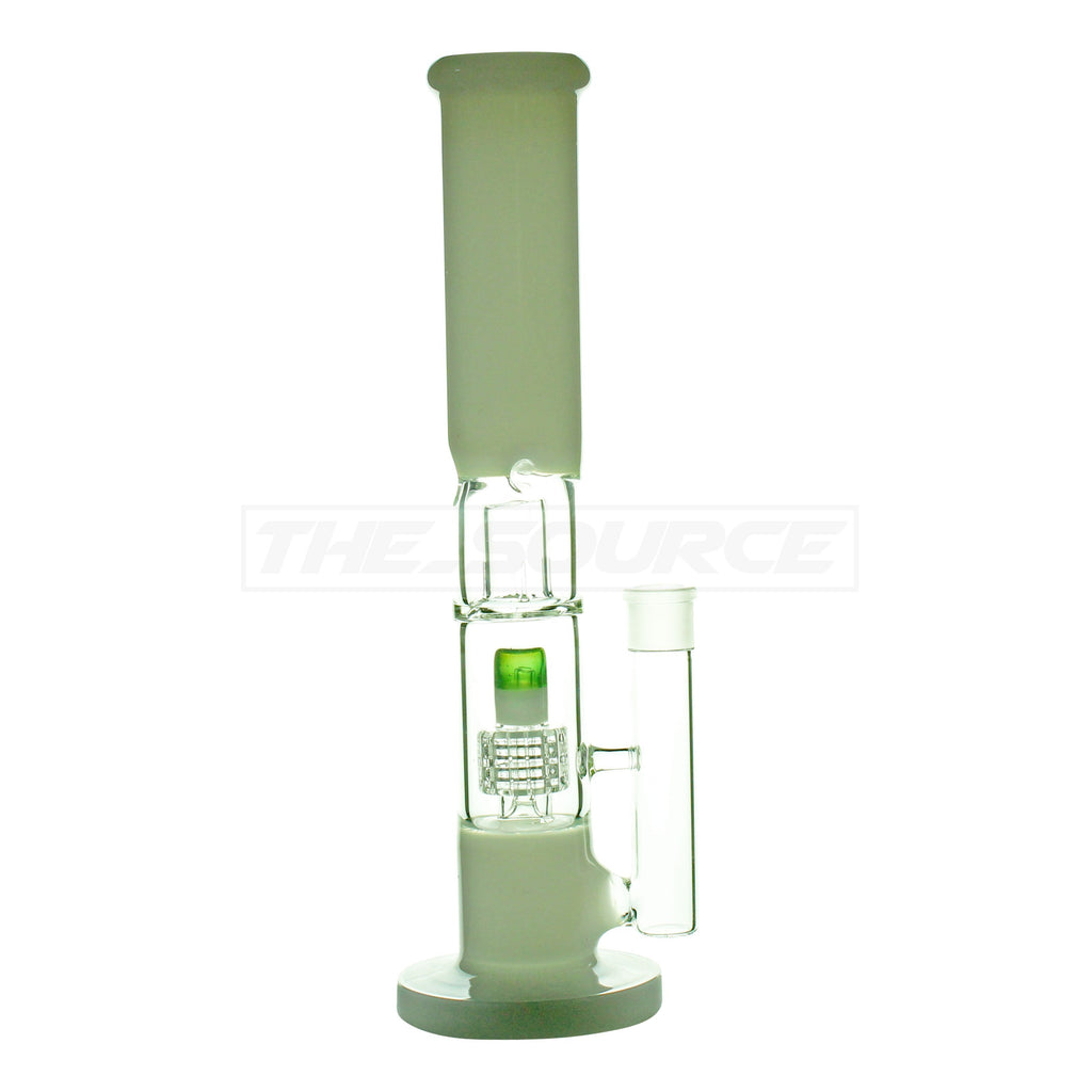 "15"" Matrix Perc Straight Tube Water Pipe - The Source of All"
