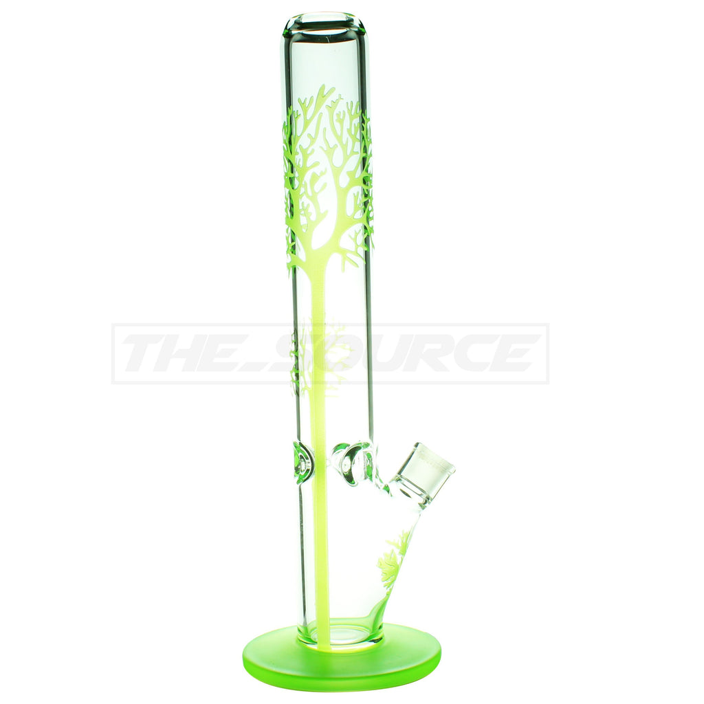 "17"" Tree Print Straight Tube Bong - The Source of All"