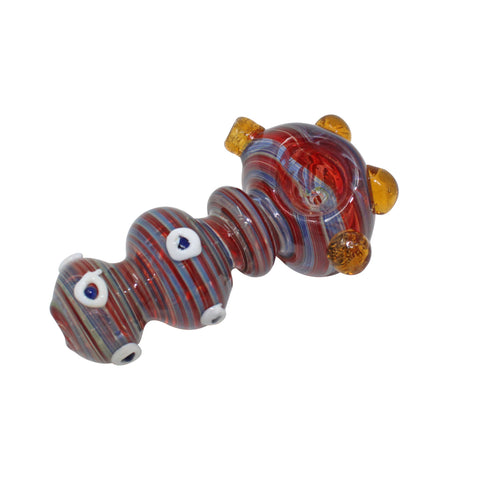 "3.5"" Continuous Stripe Glass Pipe - The Source of All"