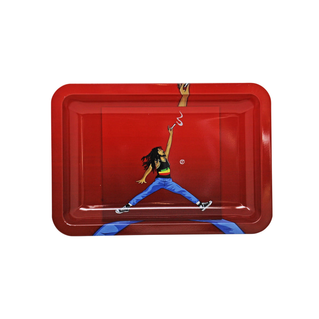 "The Source of All 4"" x 6"" Rasta Jumpman Rolling Tray"