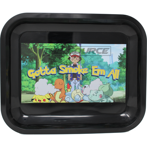 Gotta Smoke em All Large Metal Rolling Tray - The Source of All