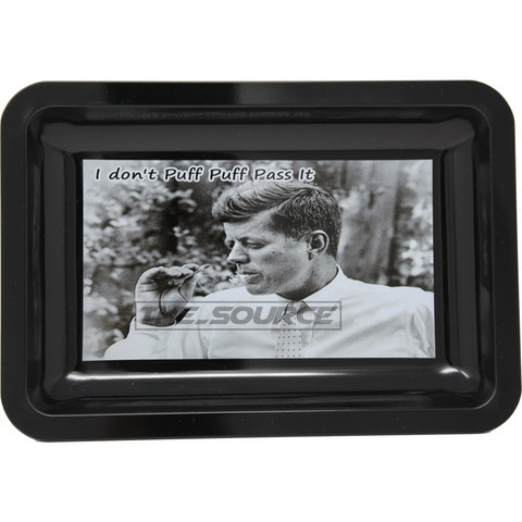 The Source of All JFK Small Metal Rolling Tray