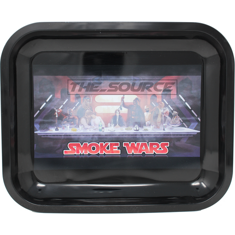 The Source of All Smoke Wars Large Metal Rolling Tray