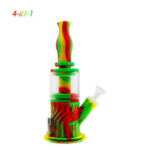 Waxmaid Water Pipes Rasta 4-in-1 Silicone Glass Double