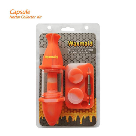 Waxmaid Water Pipes Translucent Orange Capsule Silicone Nectar Collector