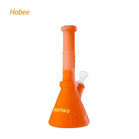 Waxmaid Water Pipes Translucent Orange Hobee Silicone Beaker Water Pipe
