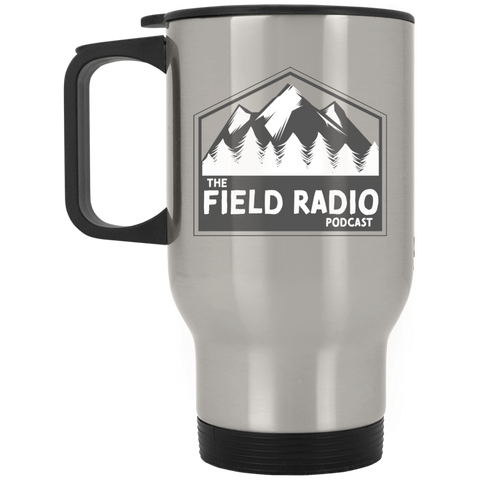 Field Radio Silver Stainless Travel Mug