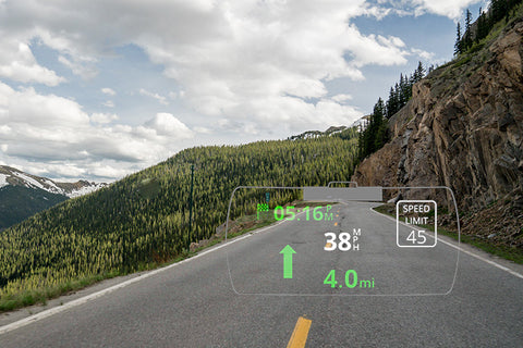 Sygic HUD on the road