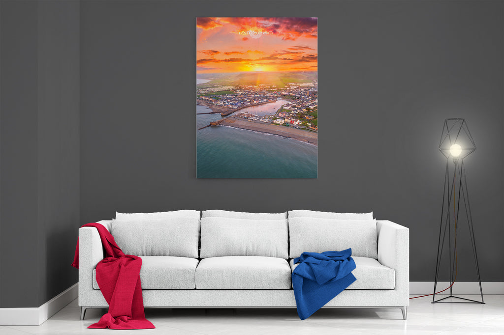 Sunrise Over Aberaeron - Ready To Hang Canvas