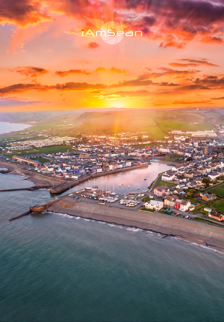 Sunrise Over Aberaeron - Poster Print