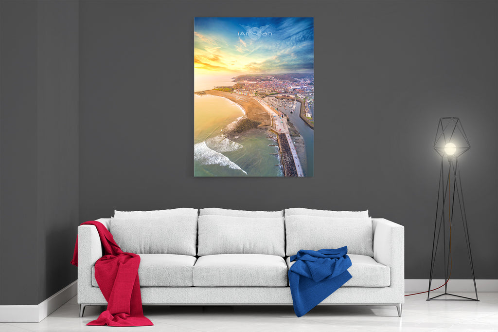Aberystwyth At Sunset - Ready To Hang Canvas