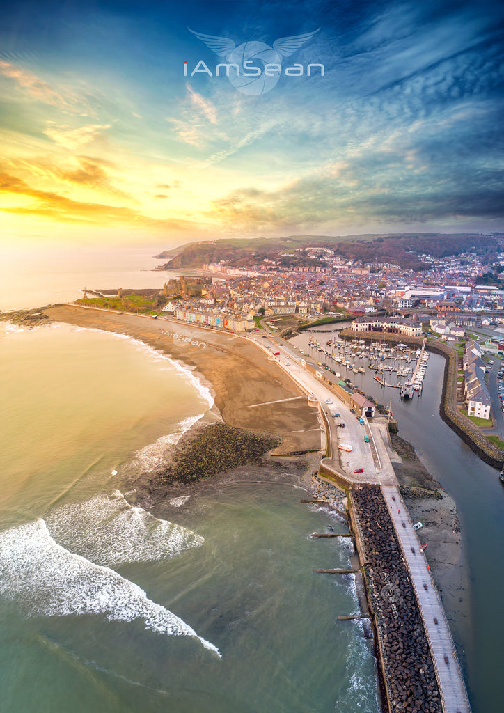 Aberystwyth At Sunset - Poster Print