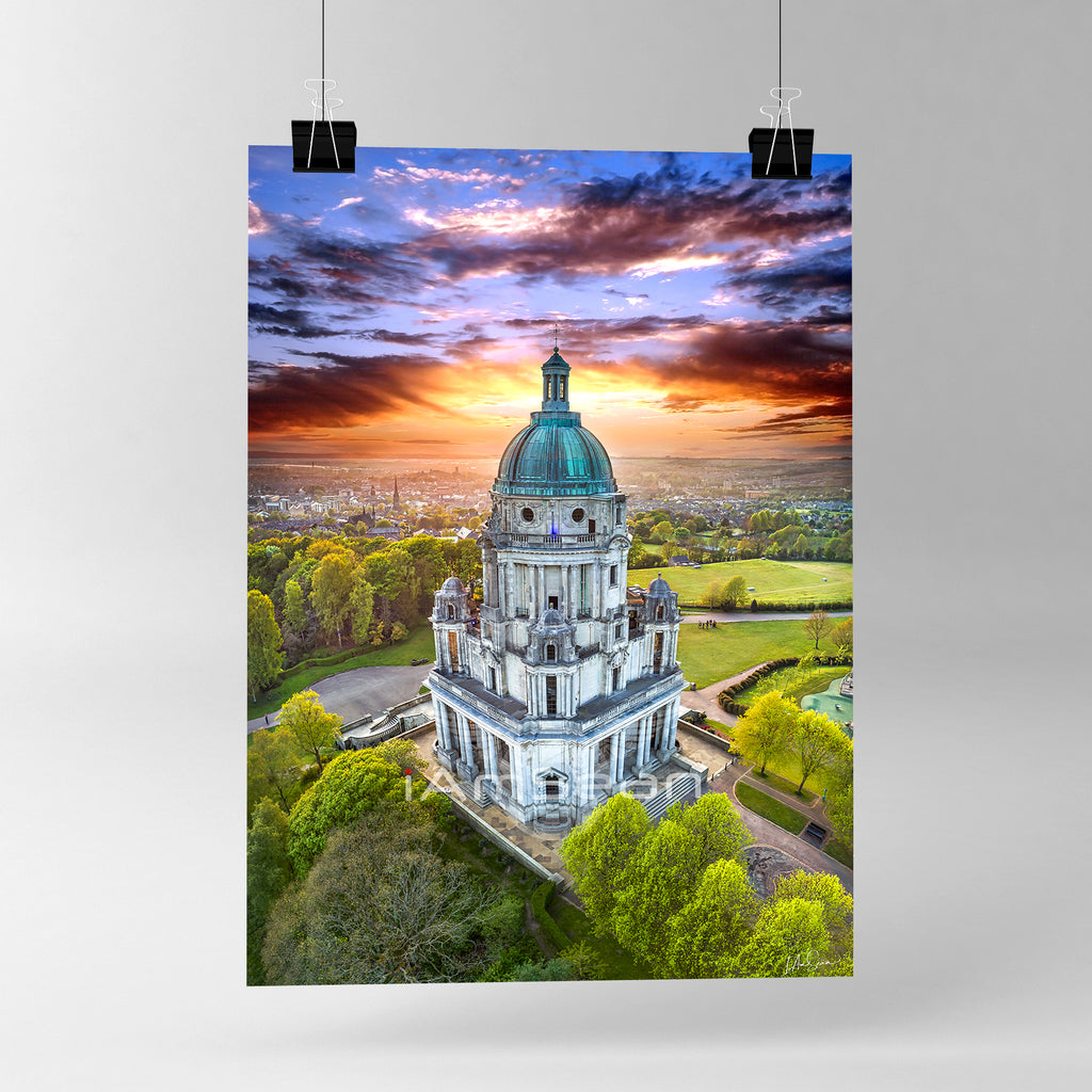 Ashton Memorial At Sunset - Poster Print