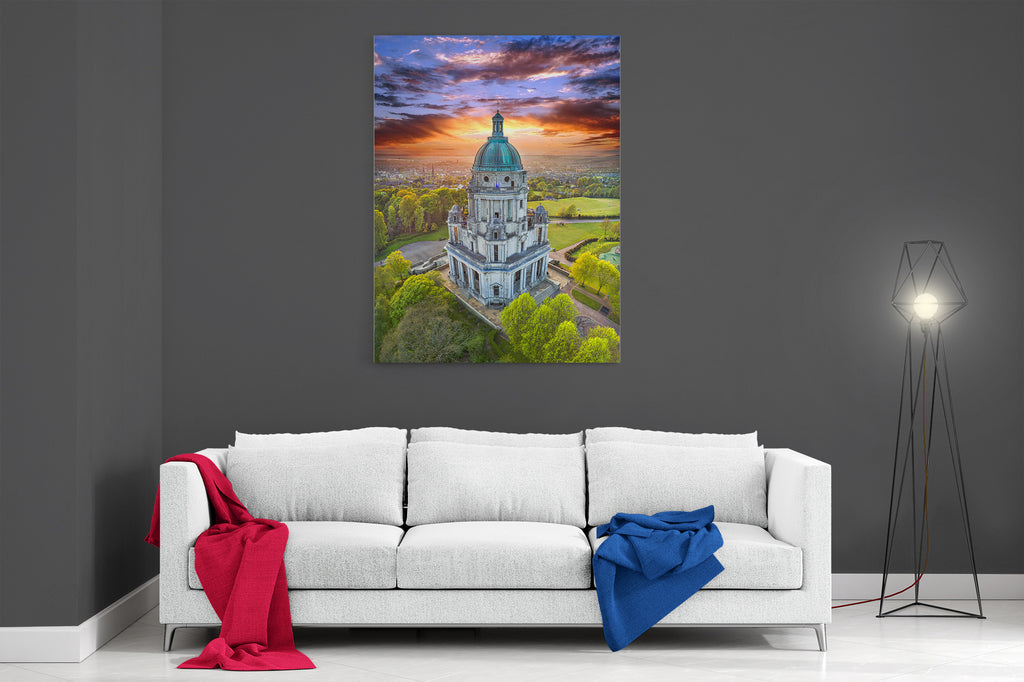 Ashton Memorial At Sunset - Ready To Hang Canvas