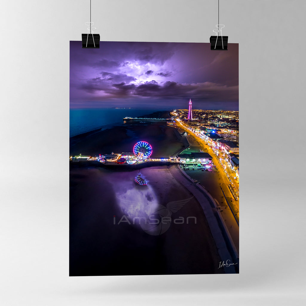 Blackpool Electrifying - Poster Print