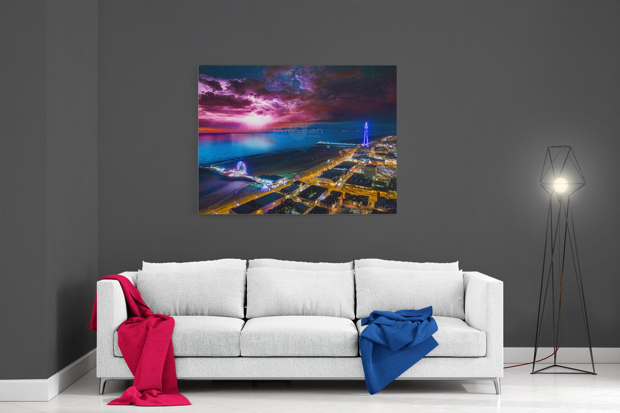 The Blackpool Light Show - Ready To Hang Canvas