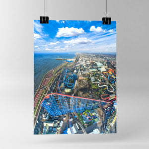 Blackpool Pleasure Beach - Poster Print