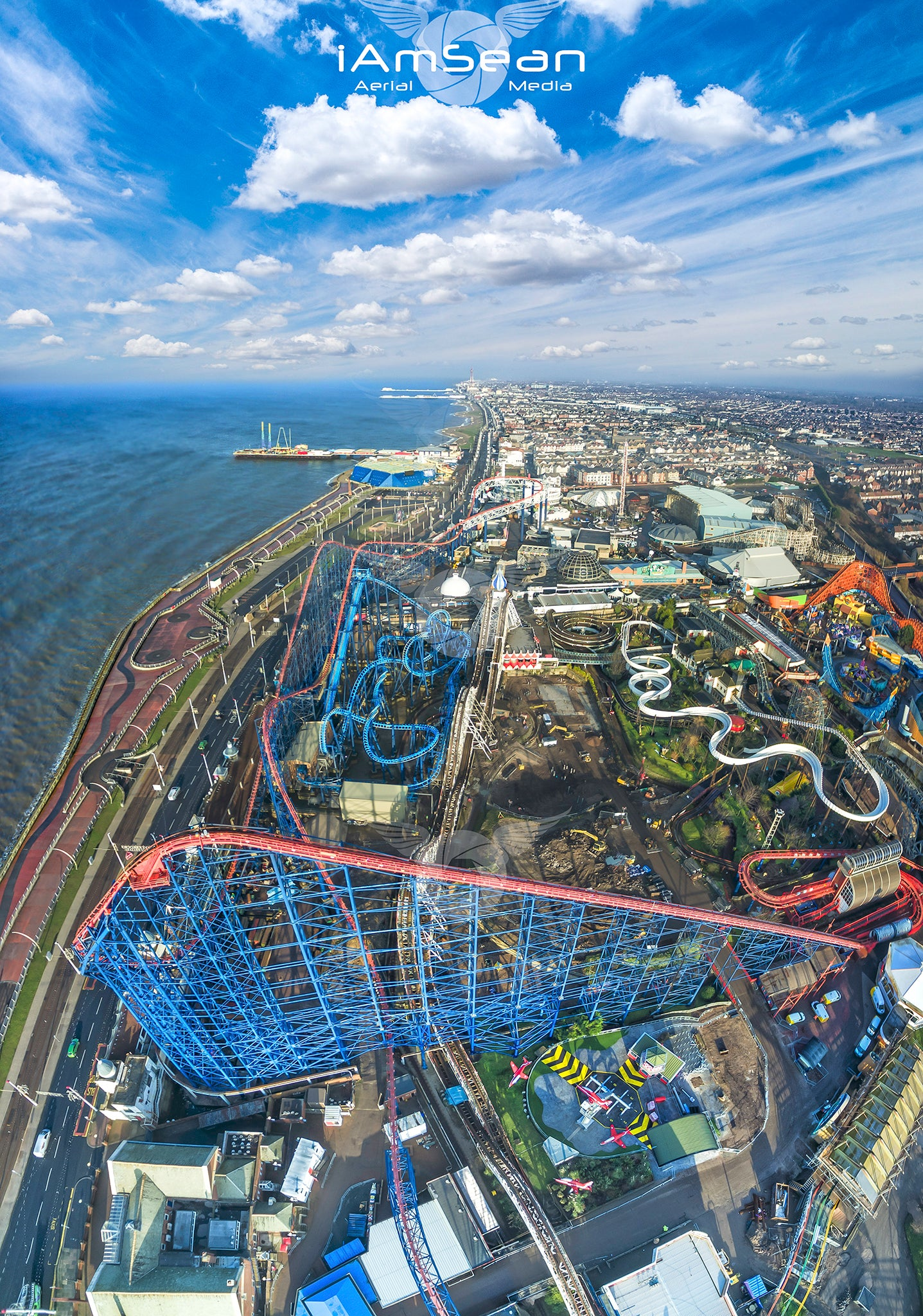 Blackpool Pleasure Beach - Ready To Hang Canvas