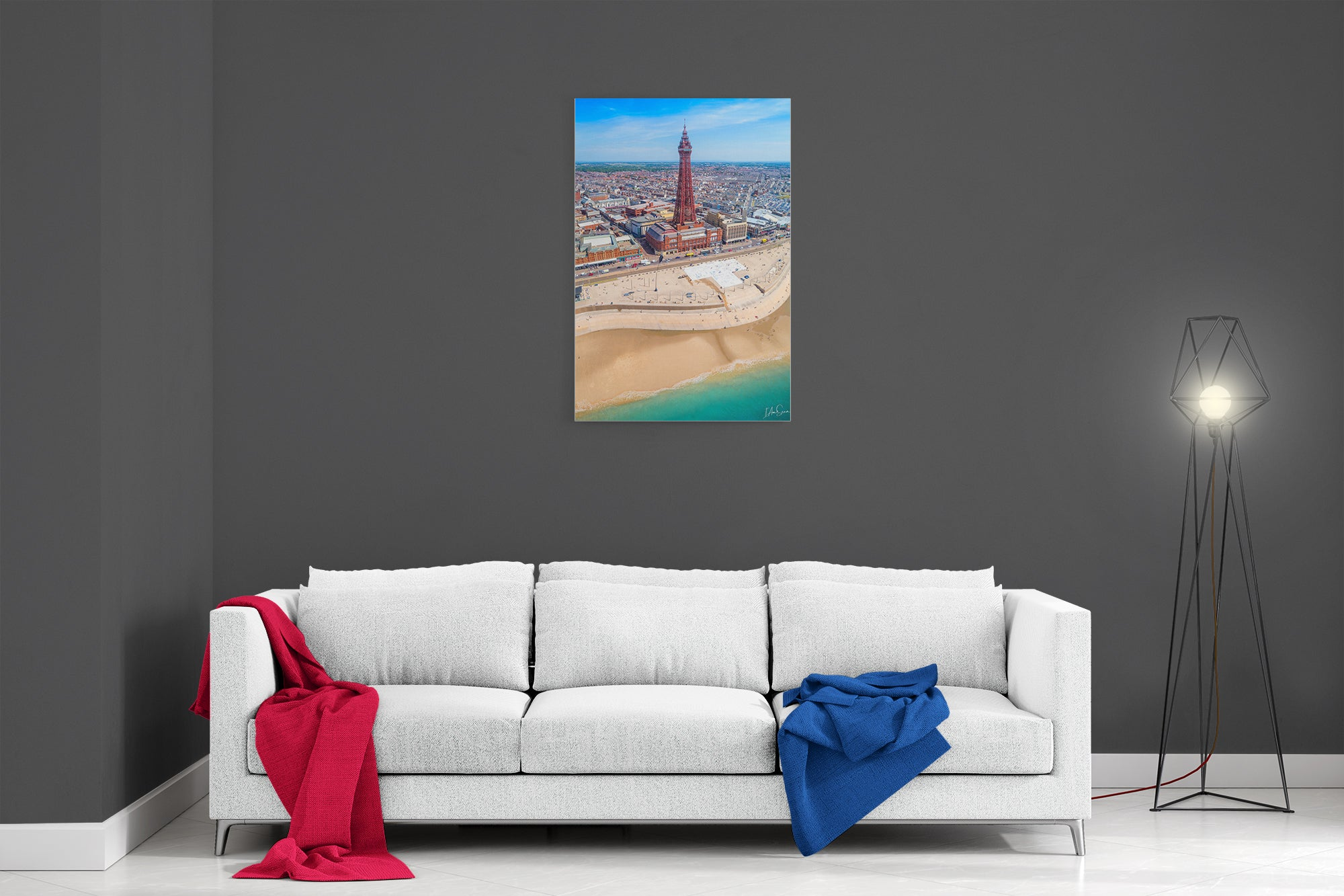 Blackpool Summer - Poster Print