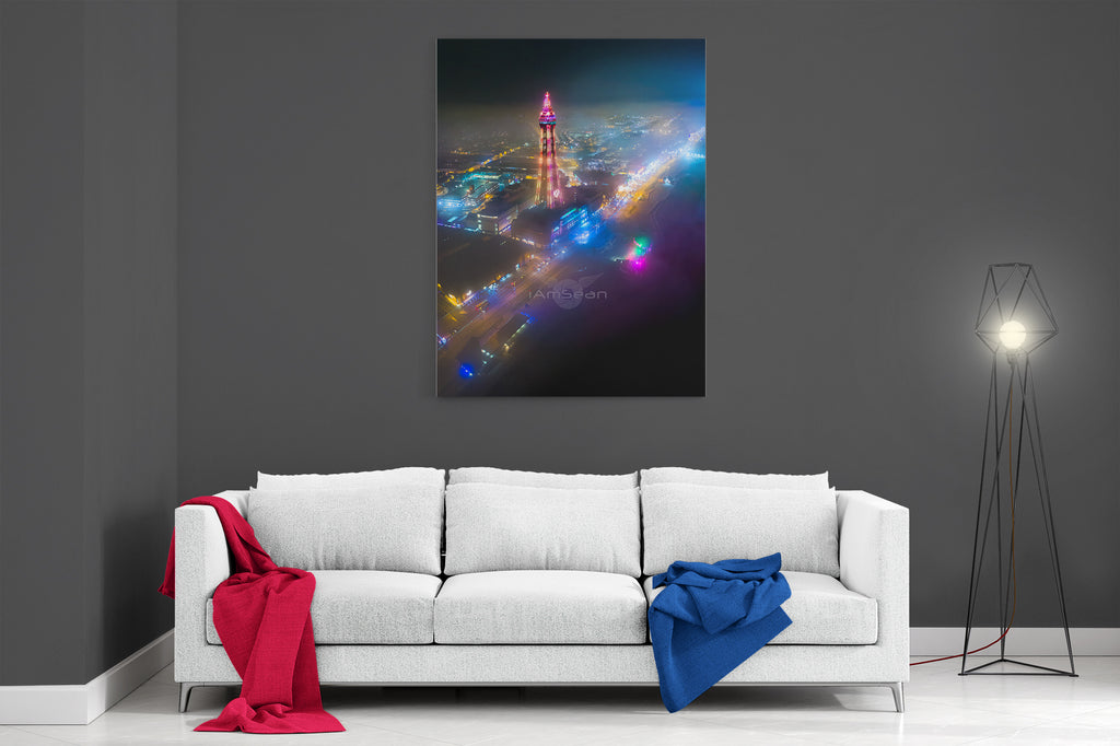 Blackpool Through The Mist - Ready To Hang Canvas