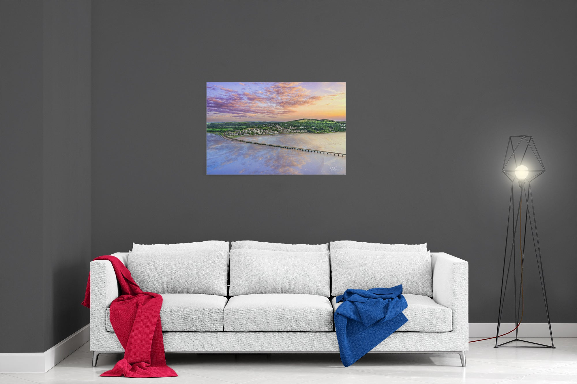 Arnside At Sunset (v2) - Ready To Hang Canvas