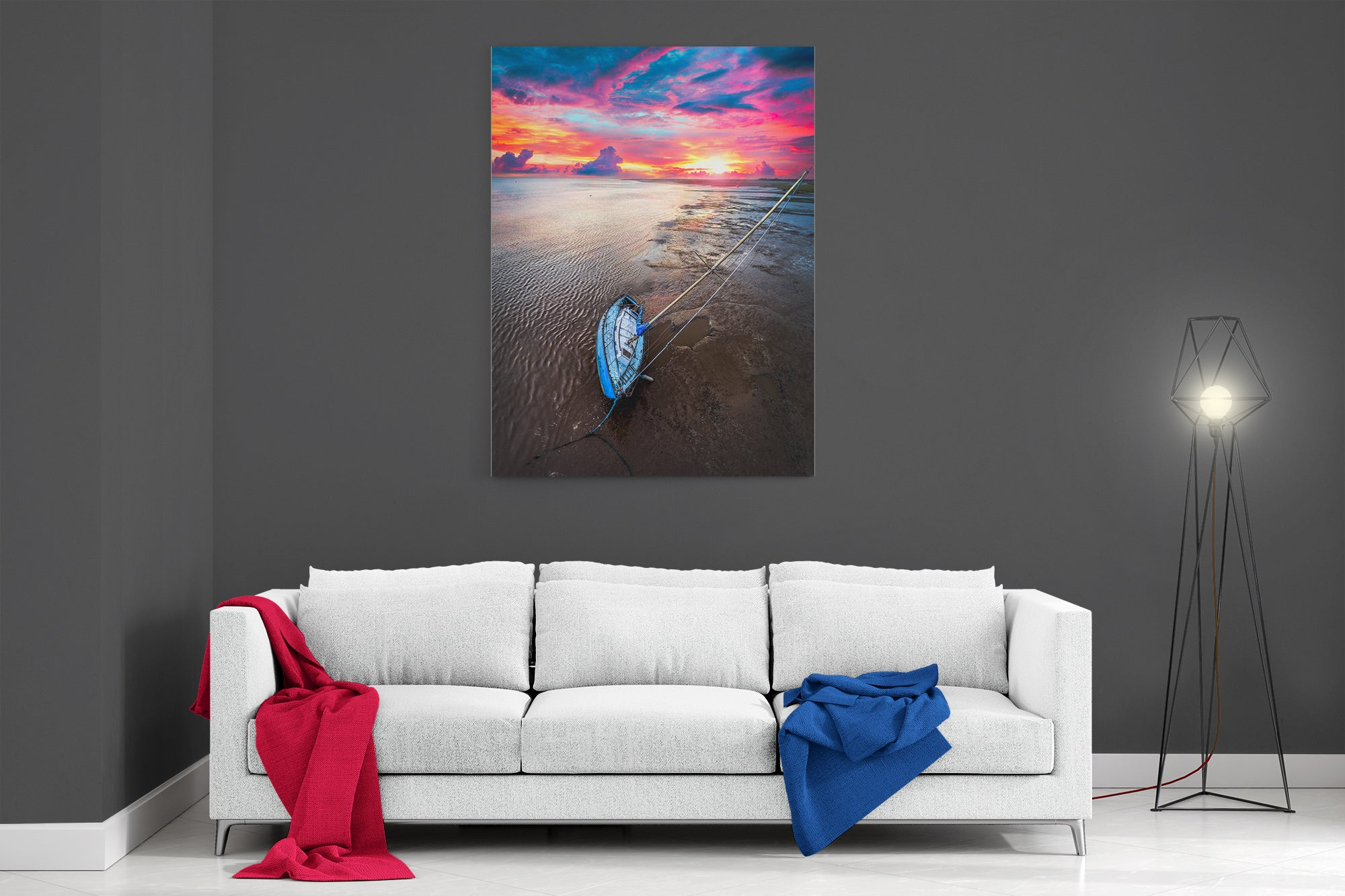 Ribble Estuary Sunset - Ready To Hang Canvas