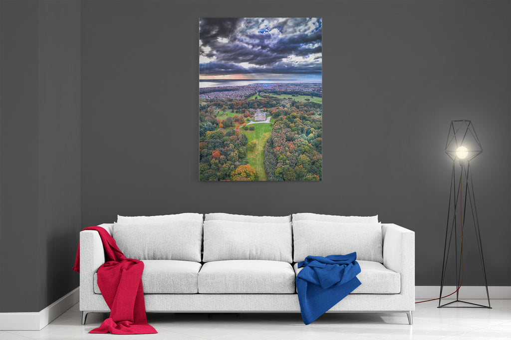 Lytham Hall In Autumn - Ready To Hang Canvas