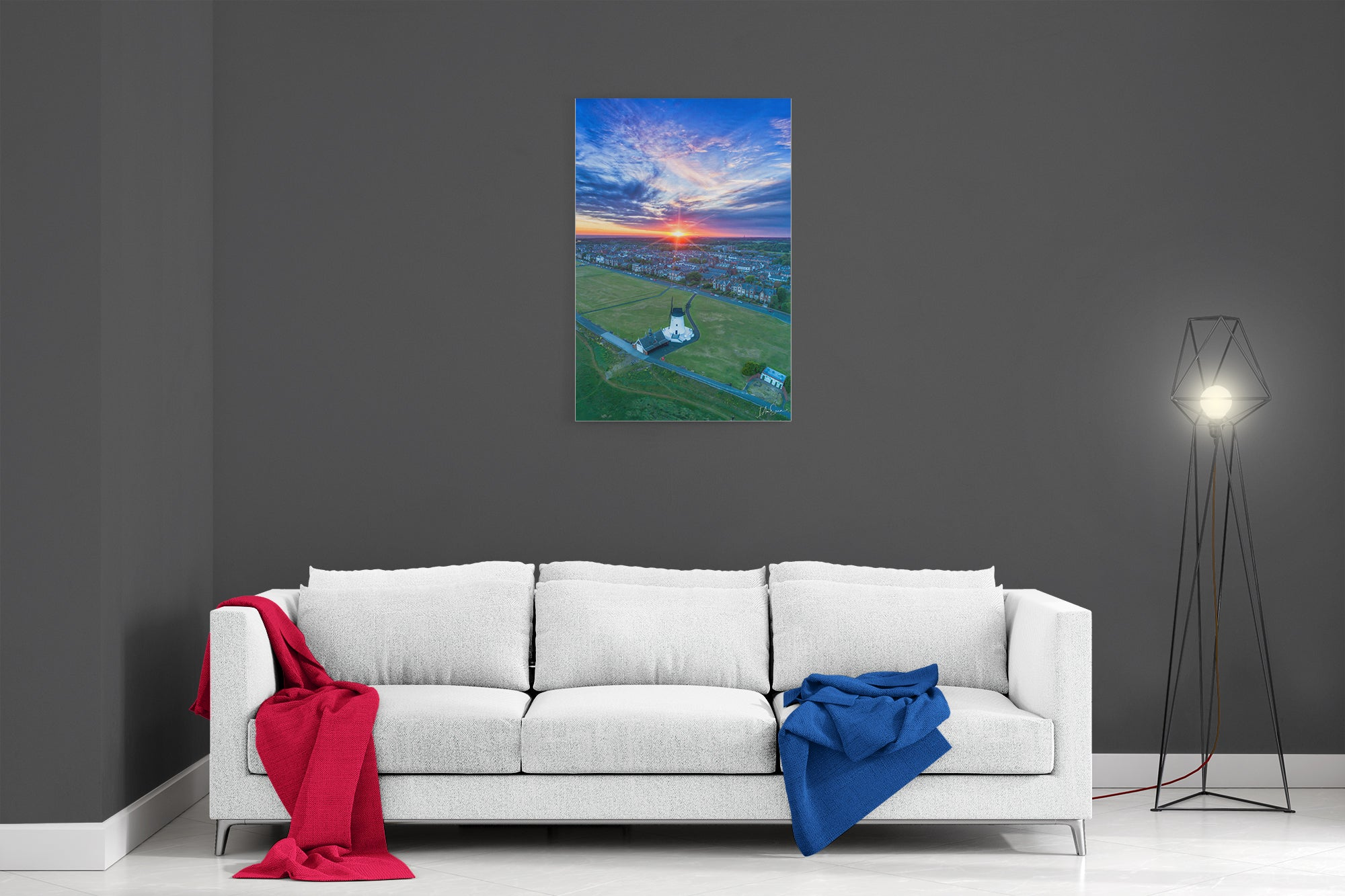 Lytham Windmill Magical Sunset - Ready To Hang Canvas