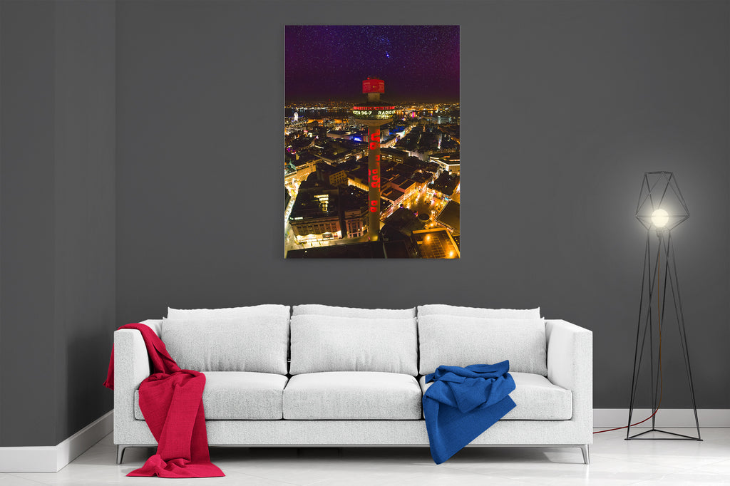Liverpool At Night - Ready To Hang Canvas