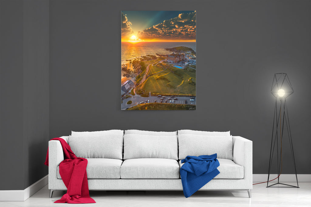 Fistral Beach Sunset - Ready To Hang Canvas