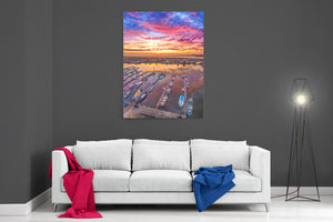 Glasson Dock Sunset - Ready To Hang Canvas
