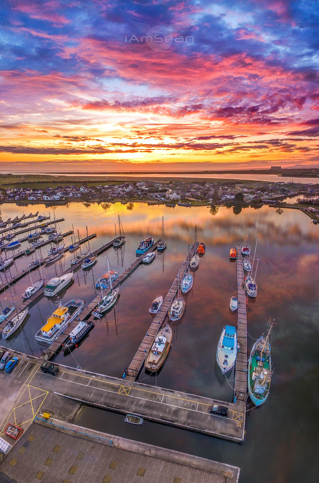 Glasson Dock Sunset - Poster Print