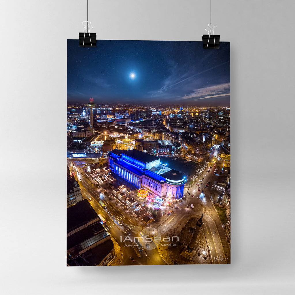 Liverpool At Christmas - Poster Print