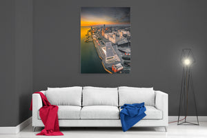 Liverpool At Dusk - Ready To Hang Canvas