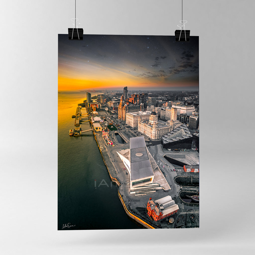 Liverpool At Dusk - Poster Print
