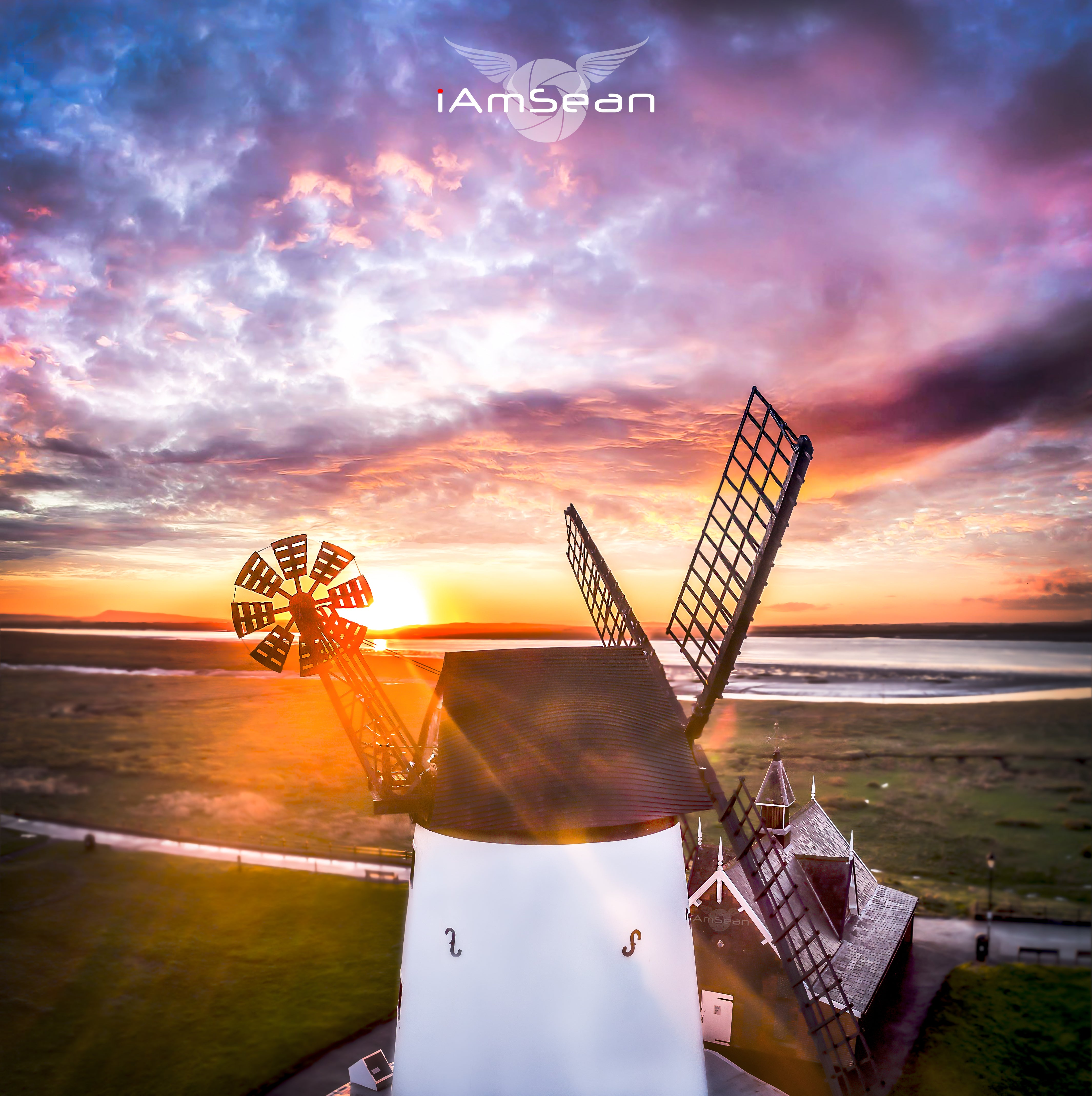 Lytham Windmill Sunrise - Ready To Hang Canvas