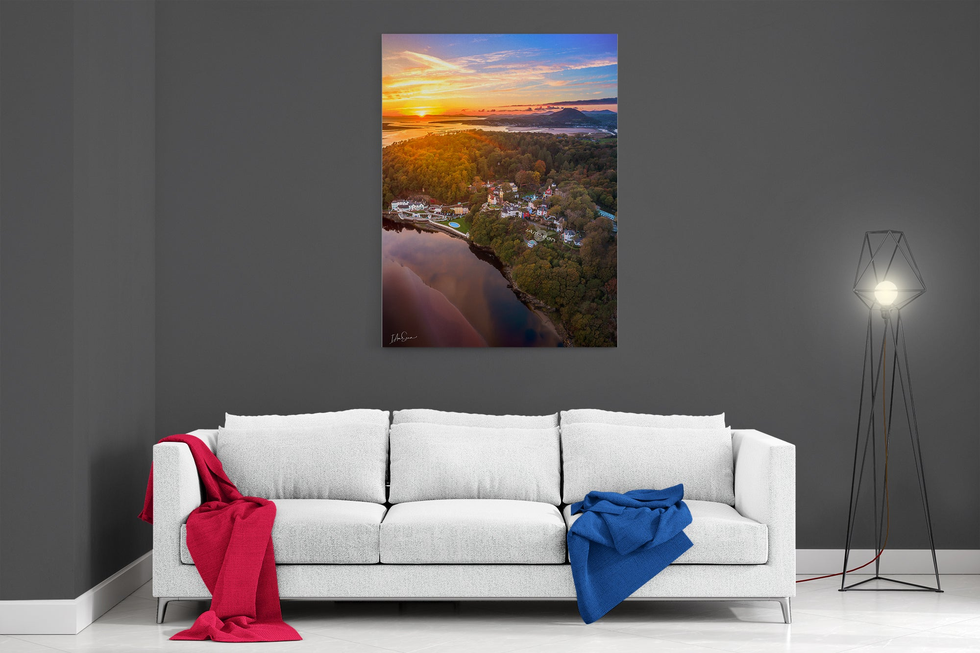 Portmeirion At Sunset - Ready To Hang Canvas