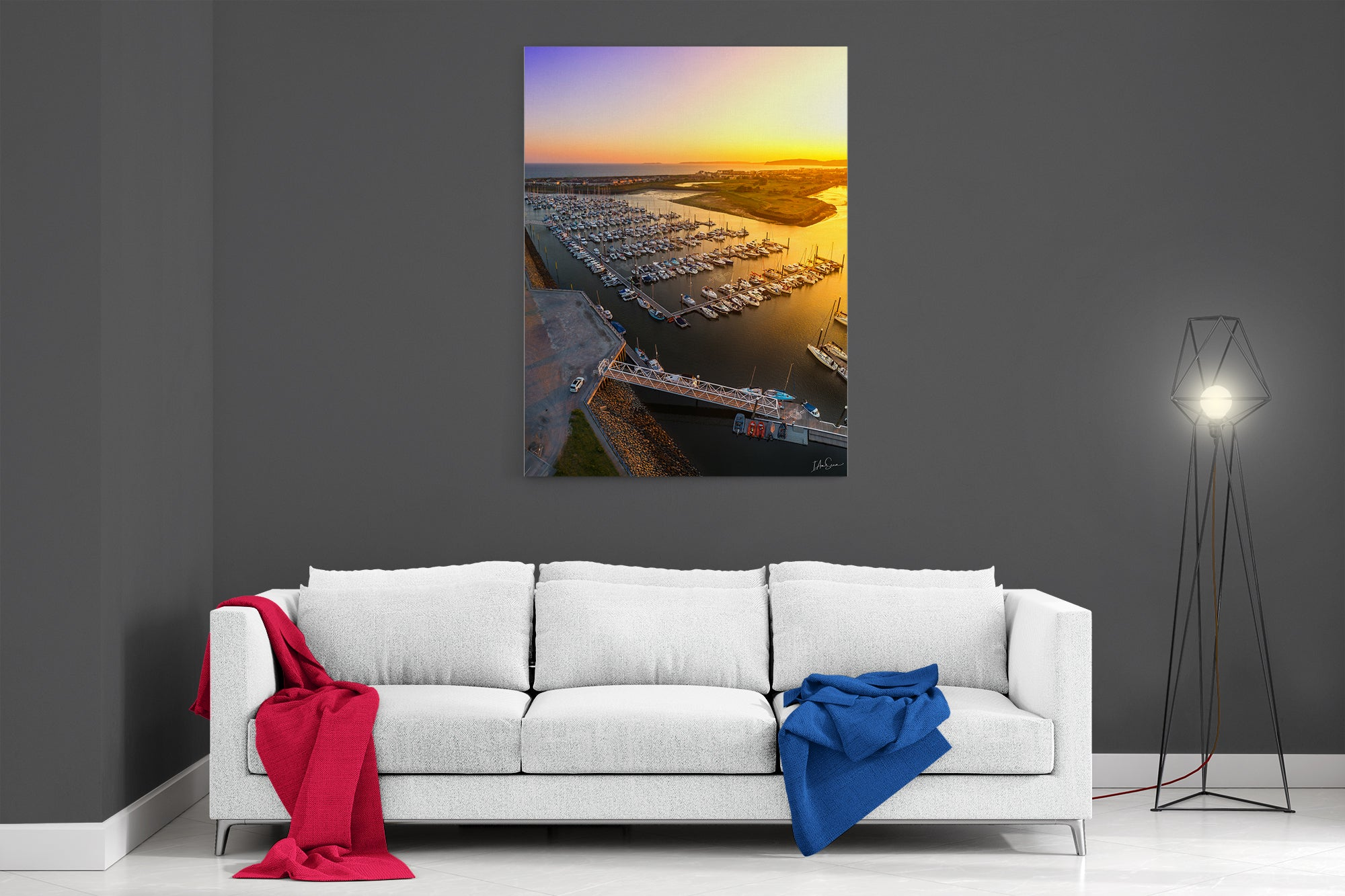 Pwllheli Marina At Sunset - Poster Print