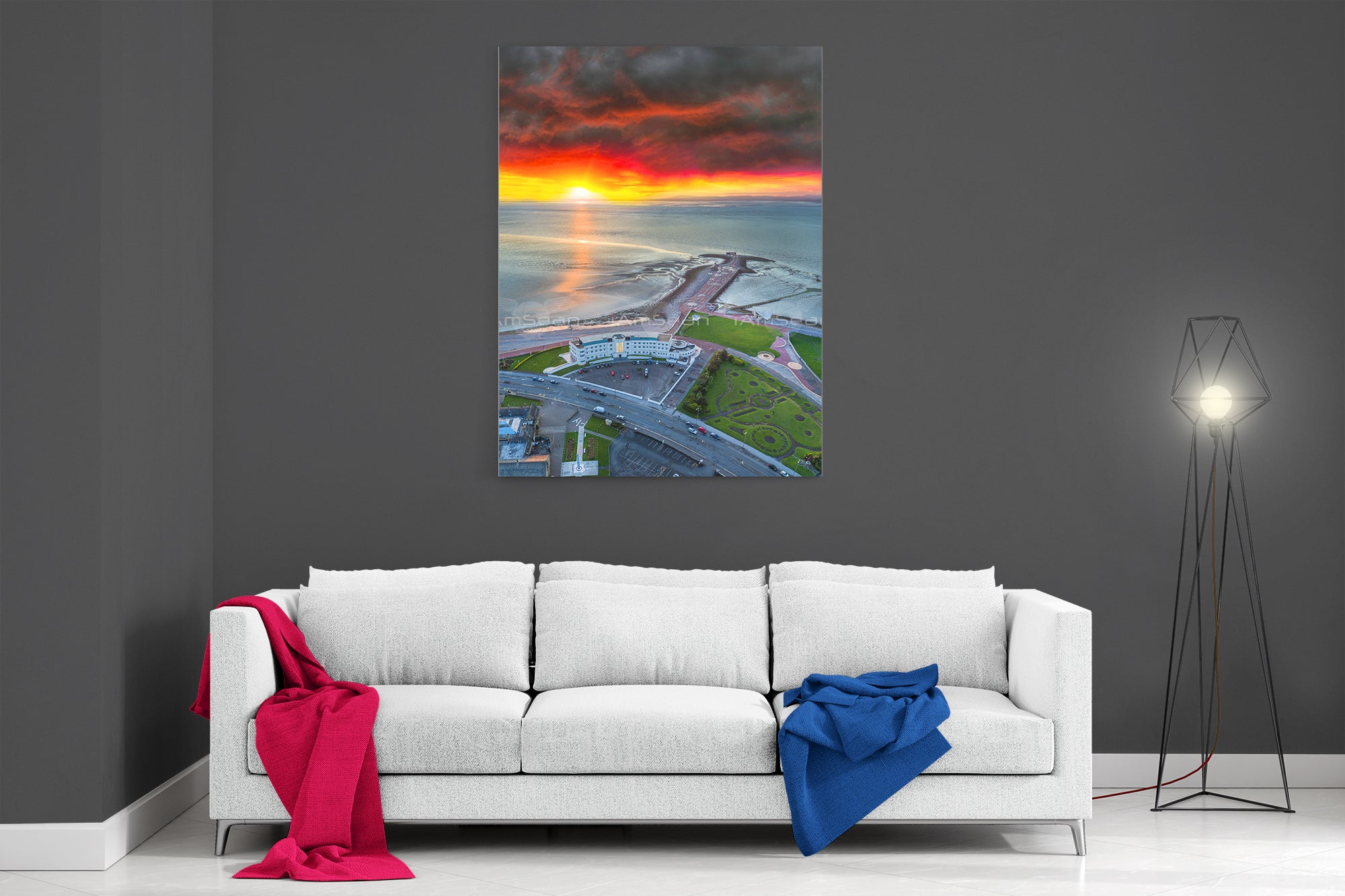 The Midland Hotel Sunset - Ready To Hang Canvas