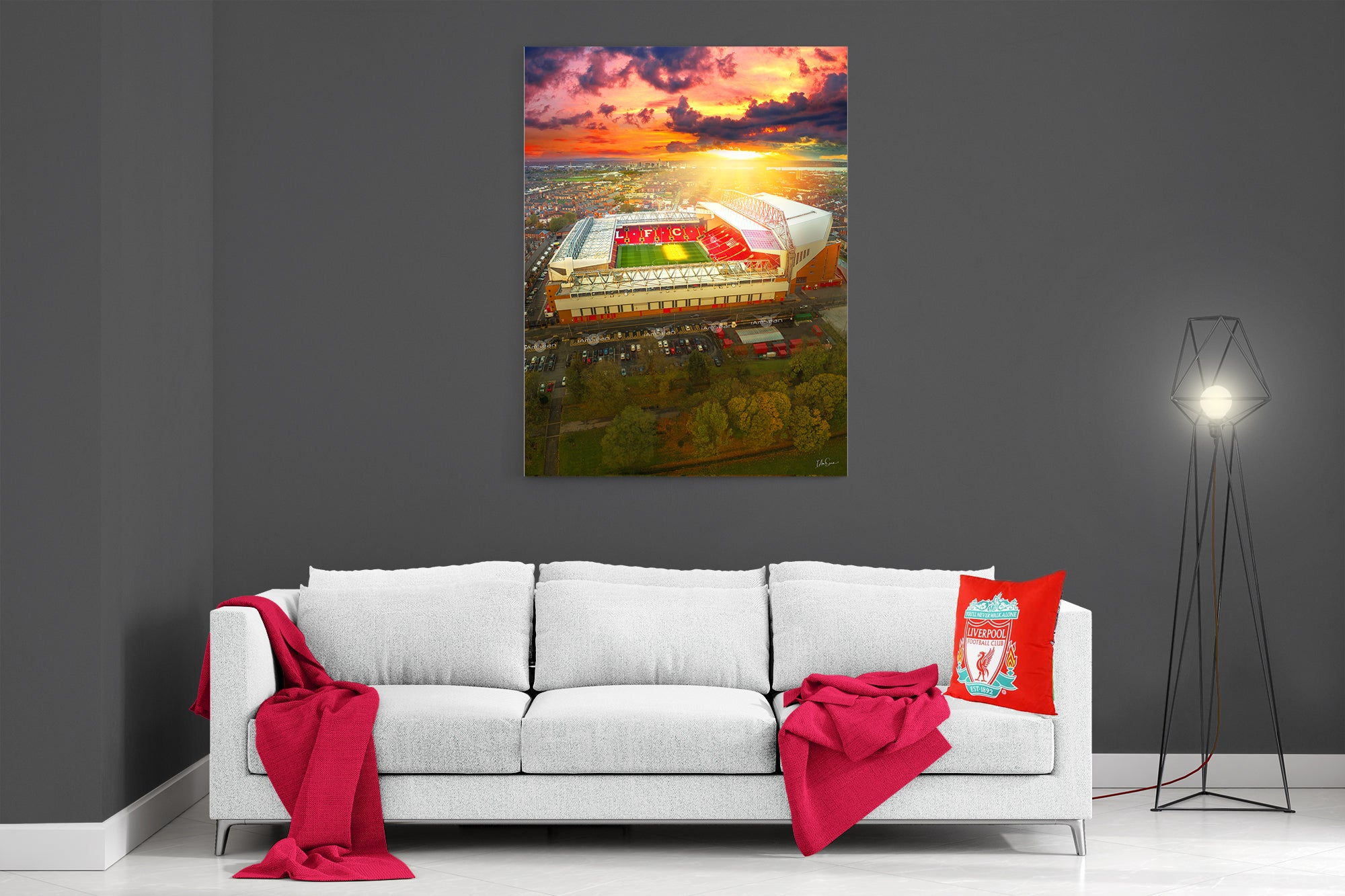 The Sun Always Shines On Anfield - Poster Print