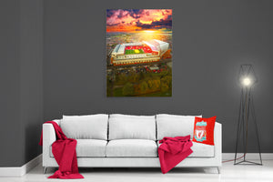 The Sun Always Shines On Anfield - Ready To Hang Canvas