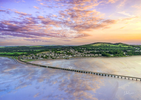 Arnside At Sunset (v2) - Poster Print