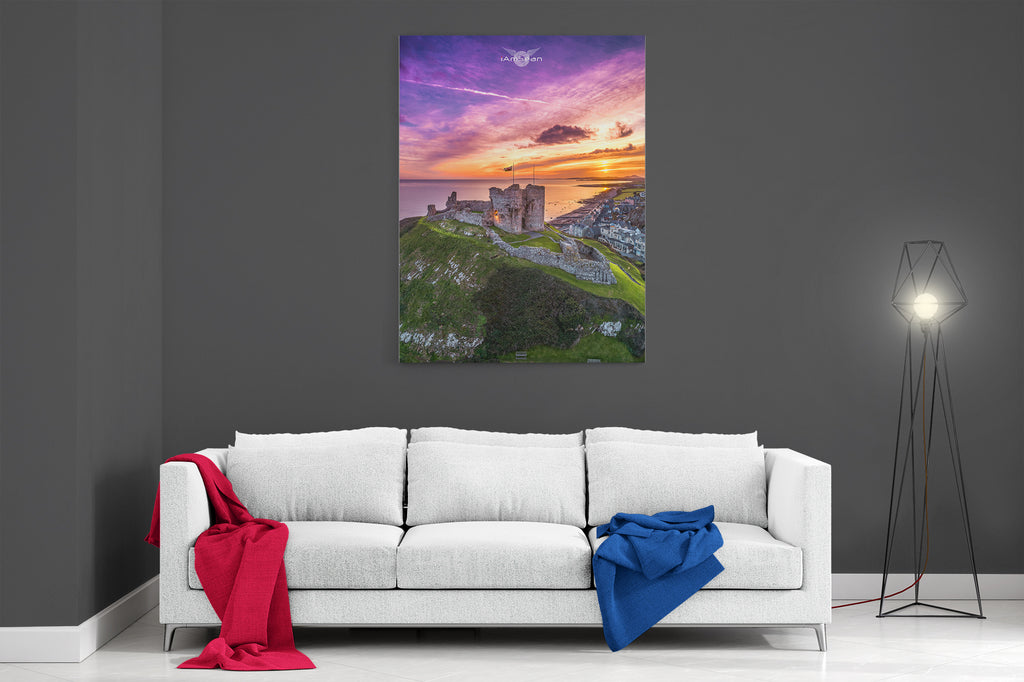 Criccieth Castle Sunset - Ready To Hang Canvas
