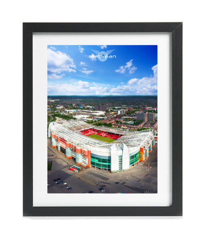 This Is Old Trafford - A3 Framed Print - Black