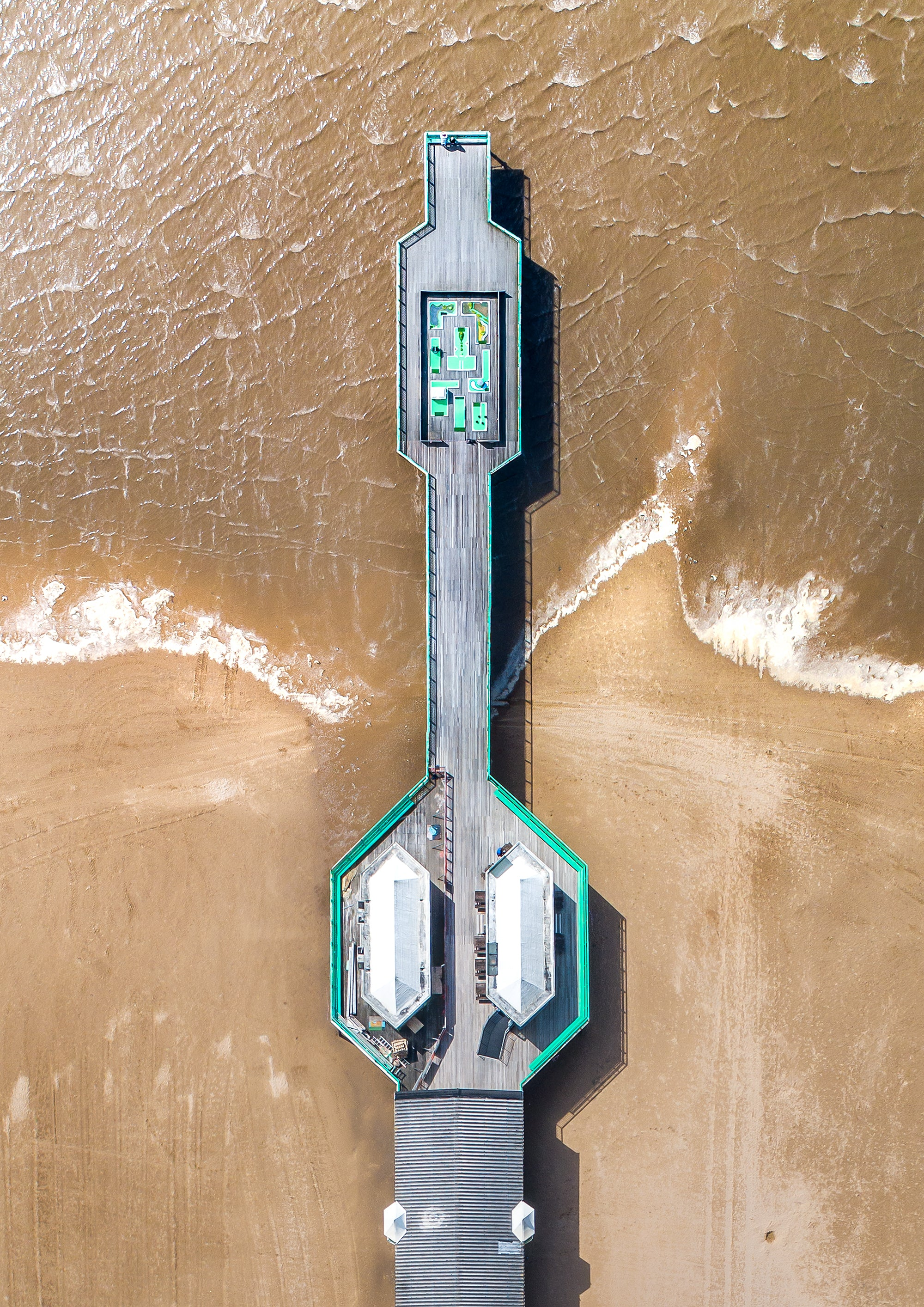 St Anne's Pier From Above - Ready To Hang Canvas