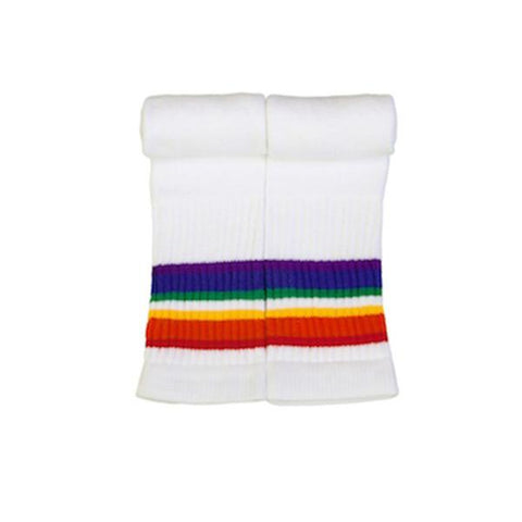 "10"" Baby Rainbow Striped Tube Socks 