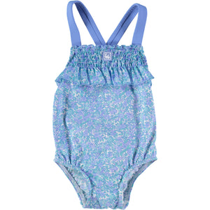 FLOR TURQUESA GIRL SWIMSUIT
