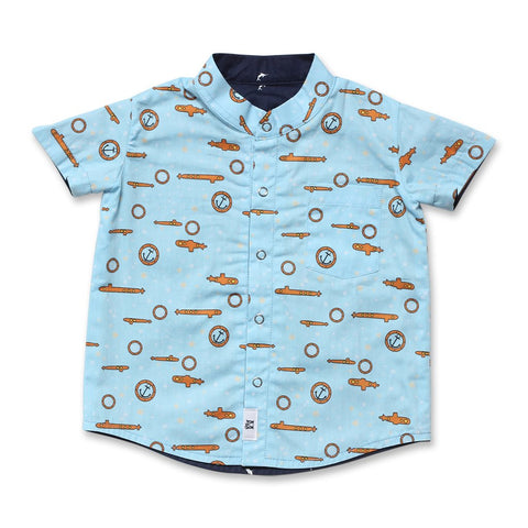 Blue Dolphin Reversible Shirt (Light Blue)