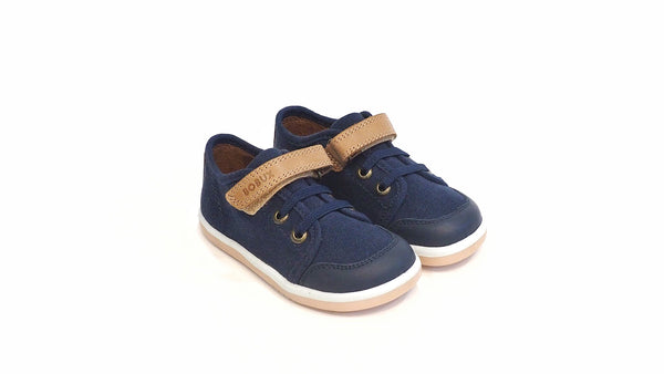 Bobux - Canvas Casual Trainer | Navy-Caramel